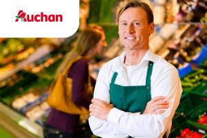 Рабочий на выкладку товара в супермаркет Auchan