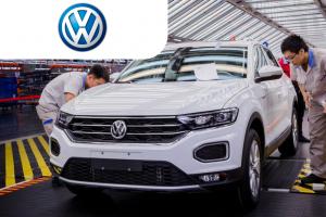 Сотрудник на современное предприятия Volkswagen