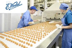 Рабочий на шоколадную фабрику Wedel